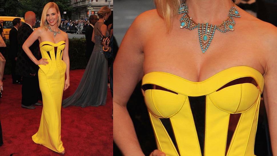 Rachel roy canary yellow dress.